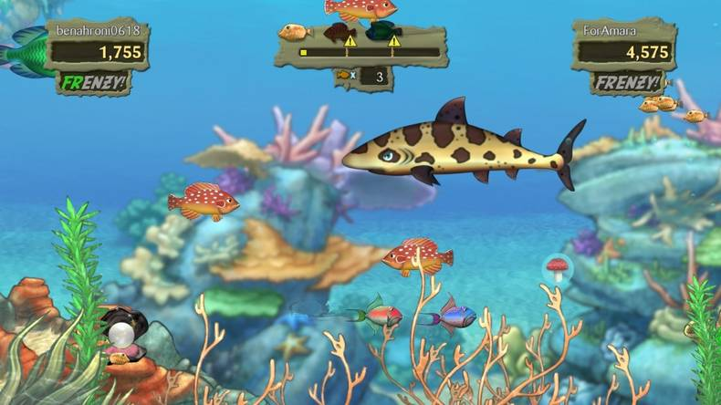 Game review feeding frenzy 2 psn higher plain music for Feeding frenzy fish